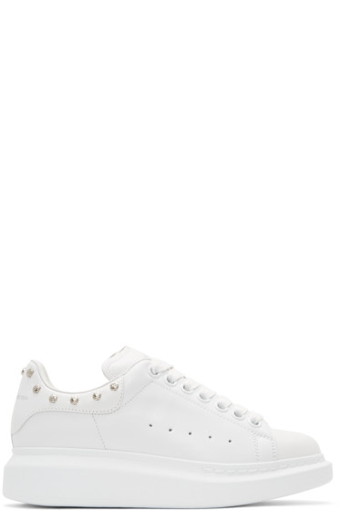Alexander McQueen - White Studded Oversized Sneakers
