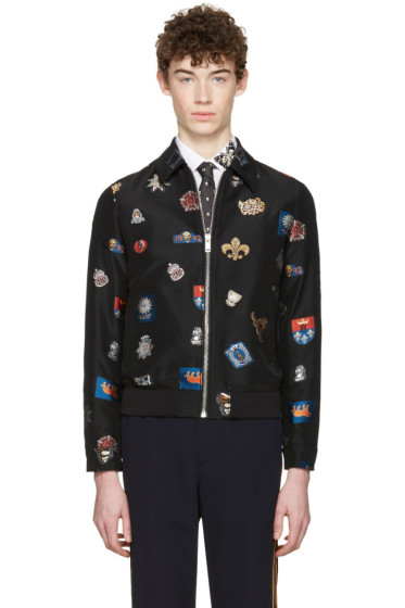 Alexander McQueen - Black Badges Bomber Jacket