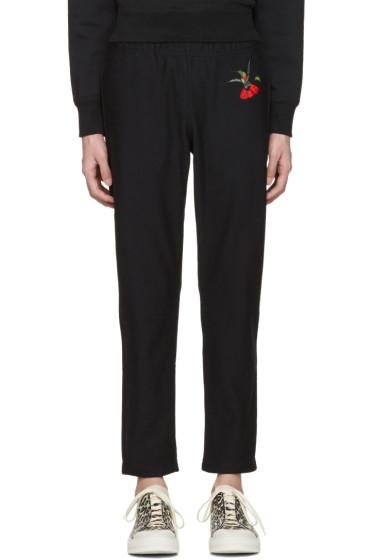 Alexander McQueen - Black Hummingbird Lounge Pants