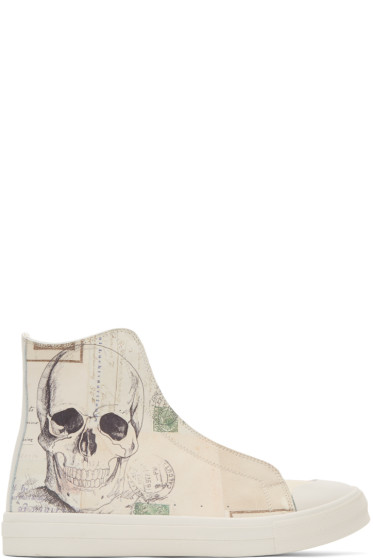 Alexander McQueen - Off-White 'Letters From India' High-Top Sneakers