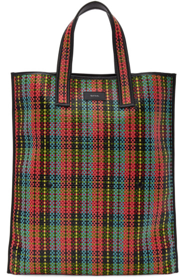 Paul Smith - Multicolor Woven Tartan Tote