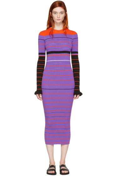 Opening Ceremony - Purple Striped Maxi Dress