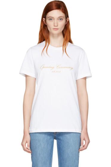 Opening Ceremony - White Original Script T-Shirt