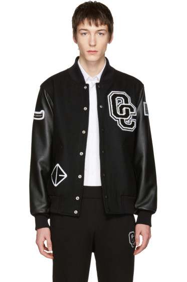 Opening Ceremony - Black Varsity Bomber Jacket