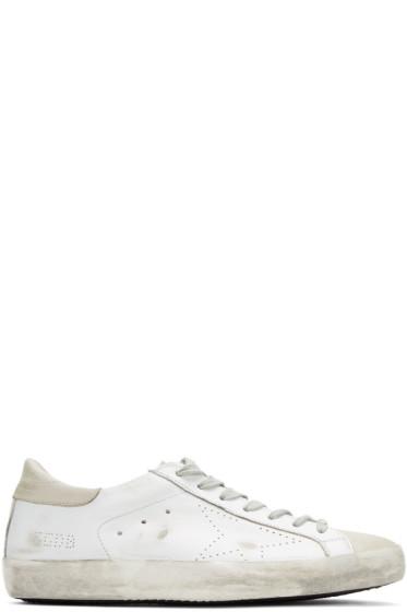 Golden Goose - White Skate Superstar Sneakers