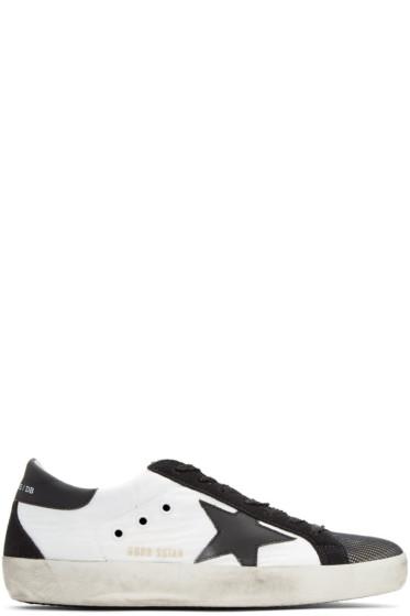 Golden Goose - White & Black Superstar Sneakers