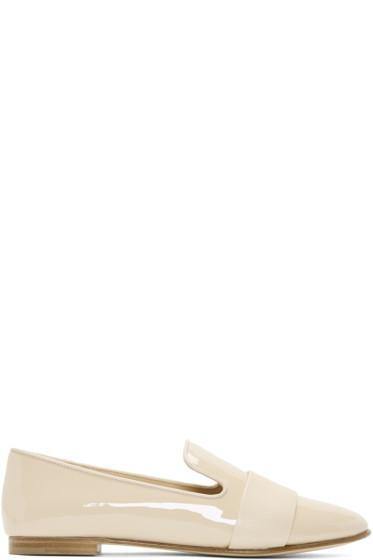 Giuseppe Zanotti - Beige Patent Leather Band Loafers