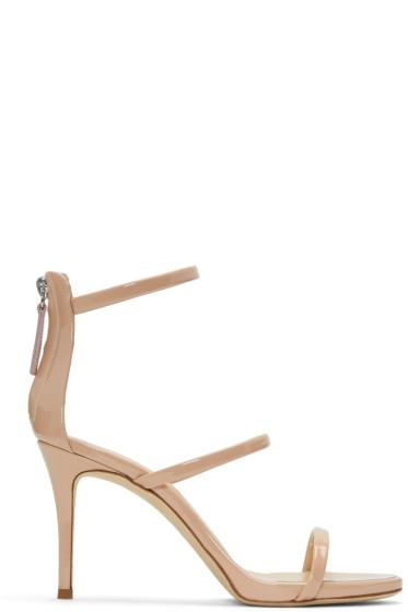Giuseppe Zanotti - Pink Patent Alien Sandals