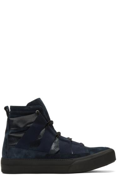 Damir Doma - Indigo Fin High-Top Sneakers