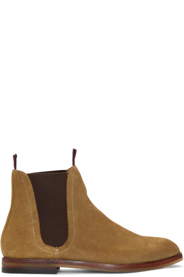 H by Hudson - Tan Suede Tamper Boots