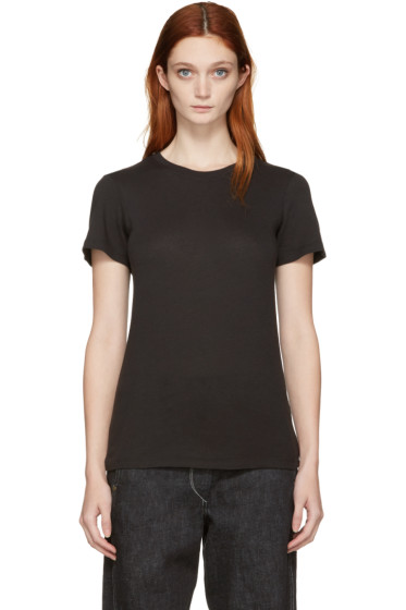 Raquel Allegra - Black Jersey Slim T-Shirt