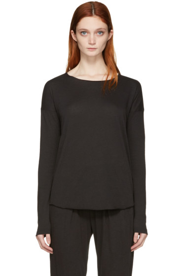 Raquel Allegra - Black Jersey Basic T-Shirt