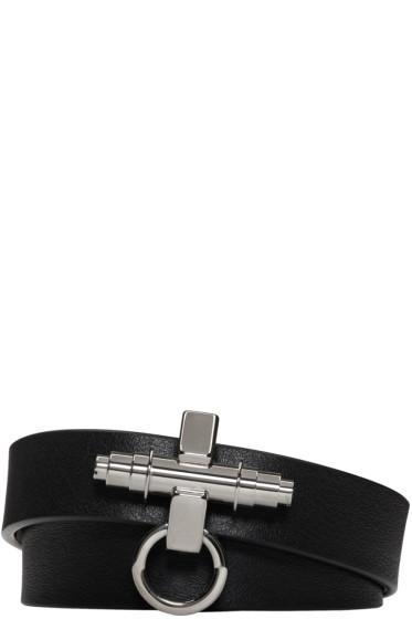 Givenchy - Black Three Row Obsedia Bracelet