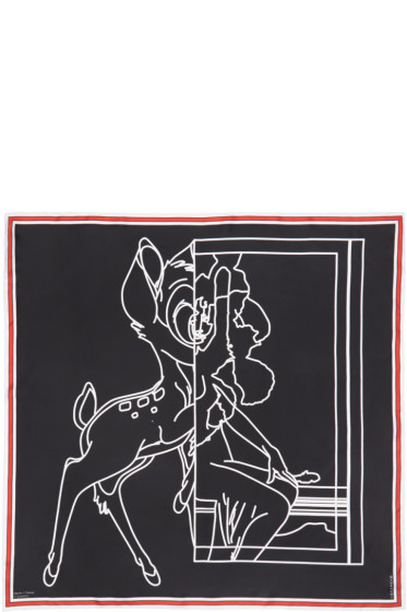 Givenchy - Black Bambi Negative Scarf