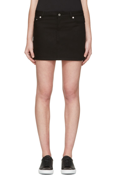 Givenchy - Black Denim Skirt