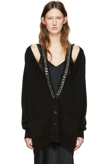 Givenchy - Black Cashmere Chain Cardigan