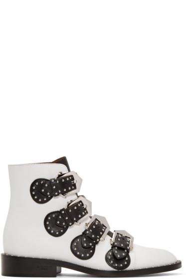 Givenchy - White Studded Elegant Boots