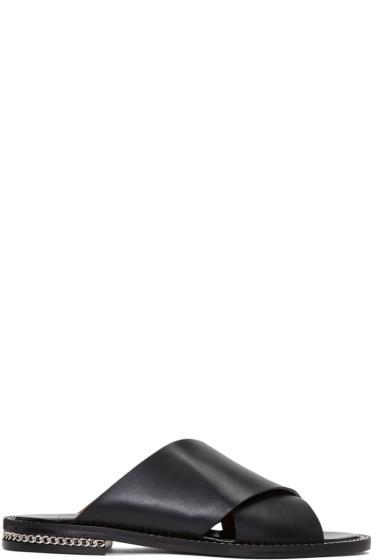 Givenchy - Black Chain Slide Sandals