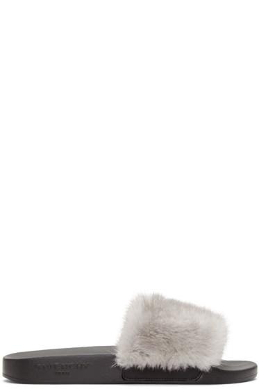Givenchy - Grey Mink Beach Slide Sandals