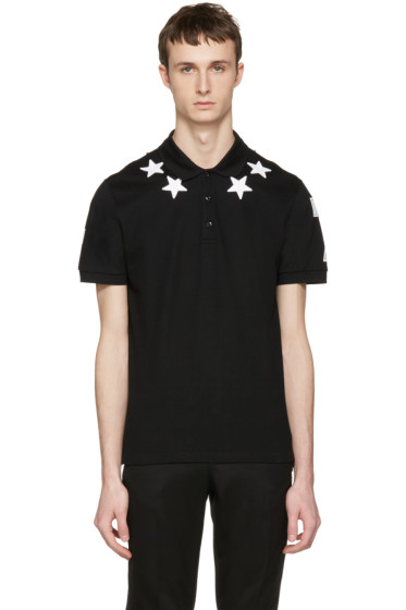 Givenchy - Black Star Patch Polo
