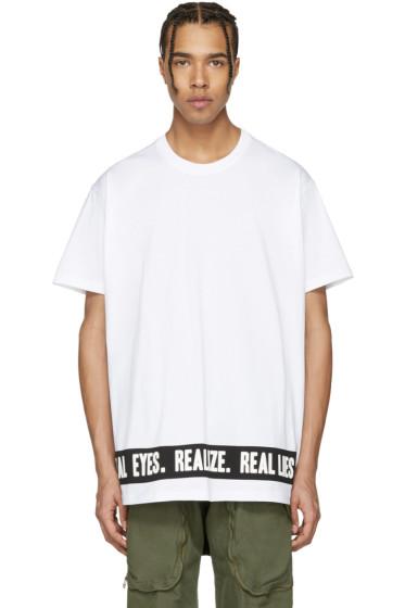Givenchy - White 'Real Eyes' T-Shirt