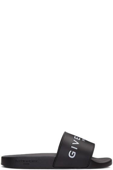 Givenchy - Black Logo Slide Sandals