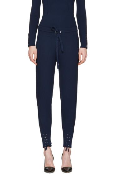 3.1 Phillip Lim - Navy Rib Knit Jogger Lounge Pants