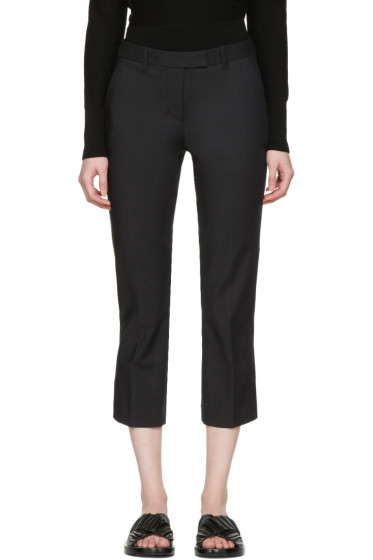 3.1 Phillip Lim - Black Kick Flare Cropped Trousers