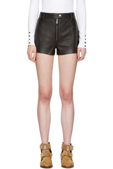 3.1 Phillip Lim - Black Classic Leather Shorts