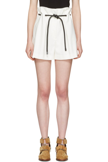 3.1 Phillip Lim - White Tailored Pleated Shorts