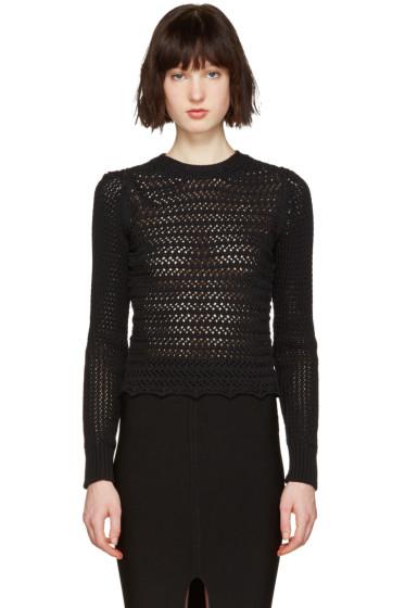 3.1 Phillip Lim - Black Crochet Pullover