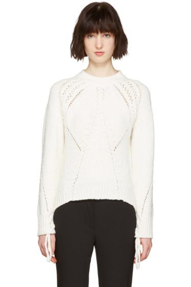 3.1 Phillip Lim - White Pointelle Sweater