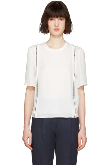 3.1 Phillip Lim - White Embroidered Blouse