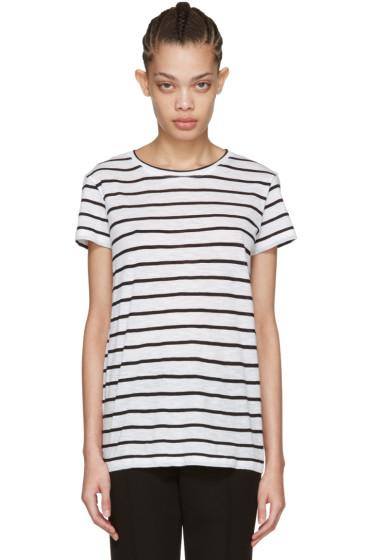 Proenza Schouler - White Baggy Pinstripe T-Shirt
