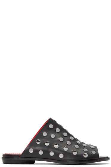 Proenza Schouler - Black Studded Camp Sandals