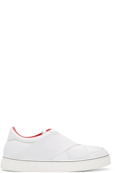 Proenza Schouler - White Leather Slip-On Sneakers