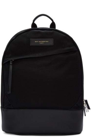 Want Les Essentiels - Black Canvas Kastrup Backpack