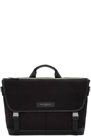 Want Les Essentiels - Black Canvas Jackson Messenger Bag