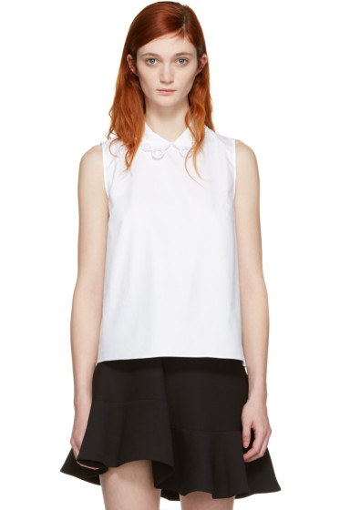 Carven - White Collar Detail Blouse