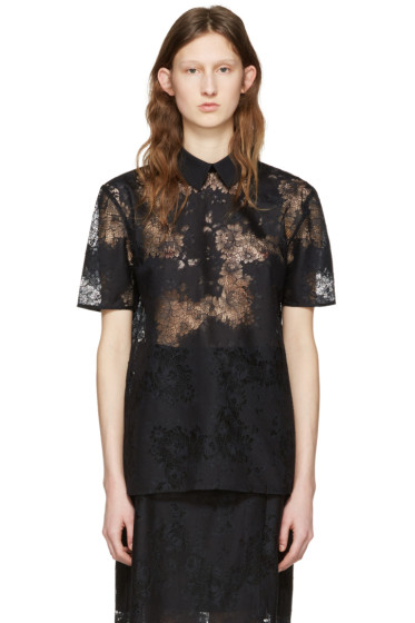 Carven - Black Lace Blouse