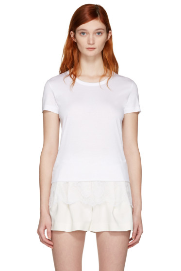 Carven - White Lace Detail T-Shirt