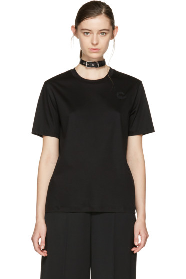 Carven - Black Choker T-Shirt