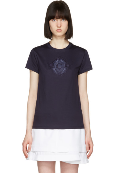 Carven - Navy Sheer Logo T-Shirt