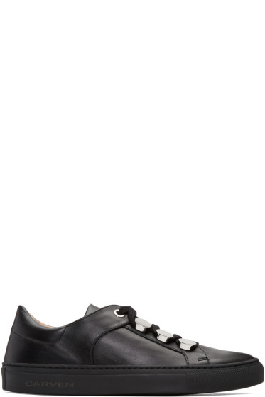 Carven - Black Button Sneakers