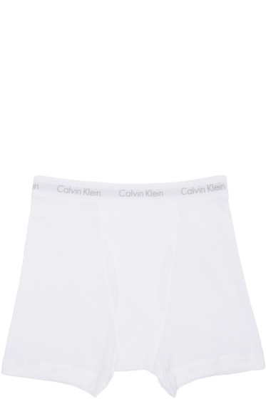Calvin Klein Underwear - Three-Pack White Boxer Briefs