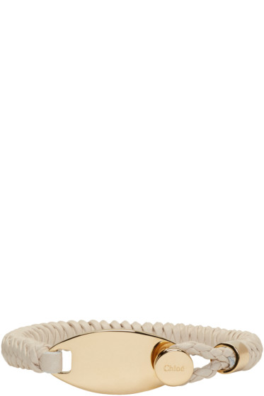 Chloé - Beige Leather Cord Bracelet