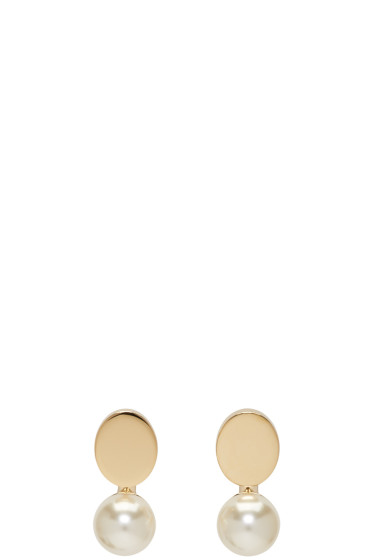 Chloé - Gold Darcey Round Earrings