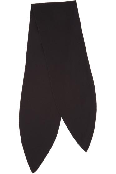Chloé - Black Silk Neck Scarf