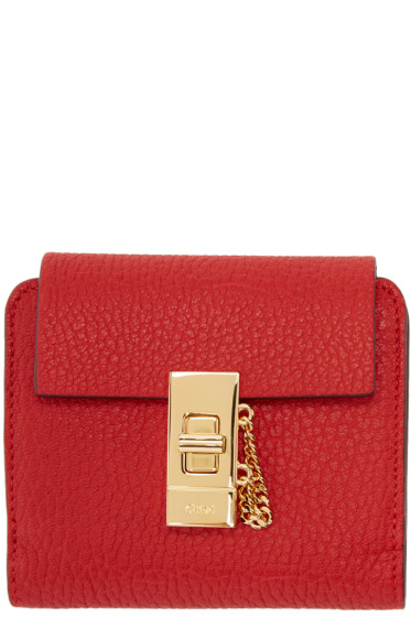 Chloé - Red Square Drew Wallet