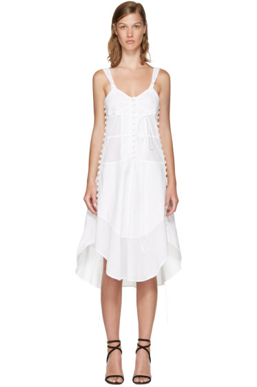 Chloé - White Sleeveless Button Dress